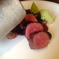 Venison and cauliflower / Heritage carrot and grapes