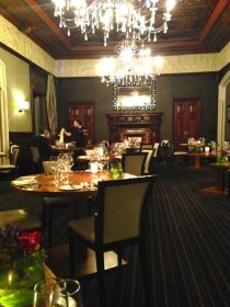 Plush, traditional and decadent restaurant
