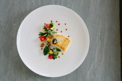 Lawns - Roasted Halibut, sea herbs, confit potato - 1