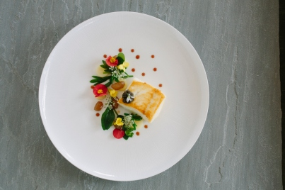 Lawns - Roasted Halibut, sea herbs, confit potato - 1