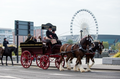 Ride Into Liverpool, promoting the Liverpool International Horse Show 2017 which takes place at the Liverpool Echo Arena, 31 Dec 2016 - 02 January 2017 - Liverpool Waterfront, United Kingdom - 25 October 2016