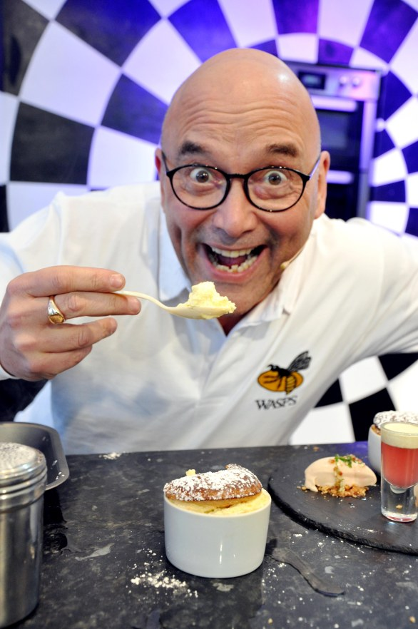 SW27316A Chester Racecourse, The Chester Food, Drink & Lifestyle Festival. Picture CH1 Chester BID Sous Chef Challenge. Picture TV Celebrity presenter Greg Wallace from BBC TV's Master Chef.