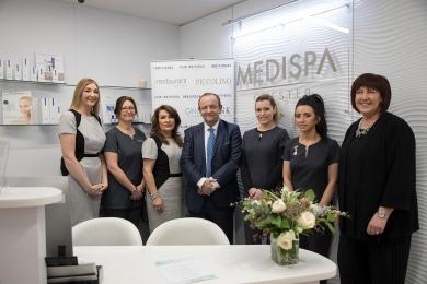 Left to right: Sara Davies, Lesley-Ann Dawson, Helen Brookfield, Dr Simon Berrisford, Josie Moore, Melanie Warren, Melanie Smethurst
