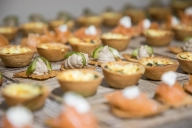 Delicious canapés from Opera Grill