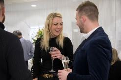 Above designer Matthew O'Brien with friend Amy Hughes
