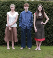 Eve Leighton, Theo Lavin and Katie Worthington
