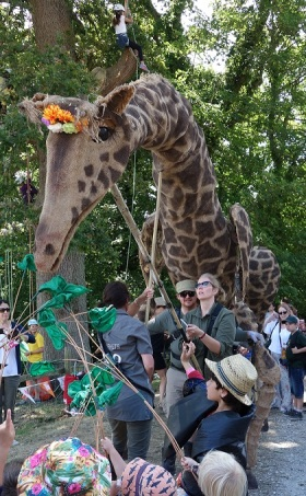 Children's TV favourite Mr Bloom, Dolly the life-sized giraffe puppet and science rapper Jon Chase are among the stars of Chester Zoo's Wild Worlds festival launch this May half term.