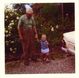 Phil and his grandad c1970