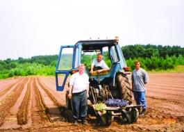 Richard and Cyril farming