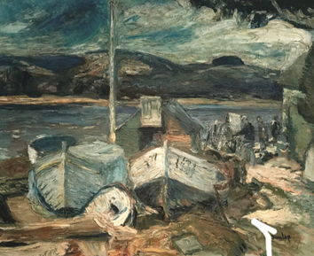 'Irish Fishermen and Boats' by Ronald Ossory Dunlop (1894-1973), oil on canvas, £6,400 from Granta Fine Art