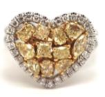 Fancy yellow diamond heart ring, £8,950