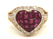 Ruby and diamond heart ring, £5,950 from Greenstein Antiques
