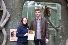 Faye Sherlock, Sustainable Palm Oil City Project Officer at Chester Zoo with founder and owner of Olive Tree Brasserie, Dean Wilson