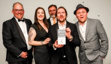 Chester Racecorse, Taste Cheshire Food and Drink Awards 2019. Picture Best Small Restaurant Gold award presented to the Mashine House. SW2342019