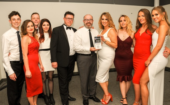 Chester Racecorse, Taste Cheshire Food and Drink Awards 2019. Picture Best use of Local Produce in a Menu Gold award to The Chesterfields. SW2342019